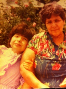 With my most beautiful flower: Mi abuelita...